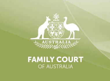 Australian coat of arms with text Family Court of Australia