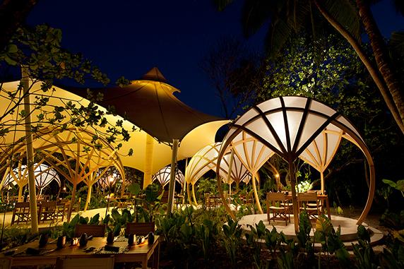 Hotel restaurant in the Maldives